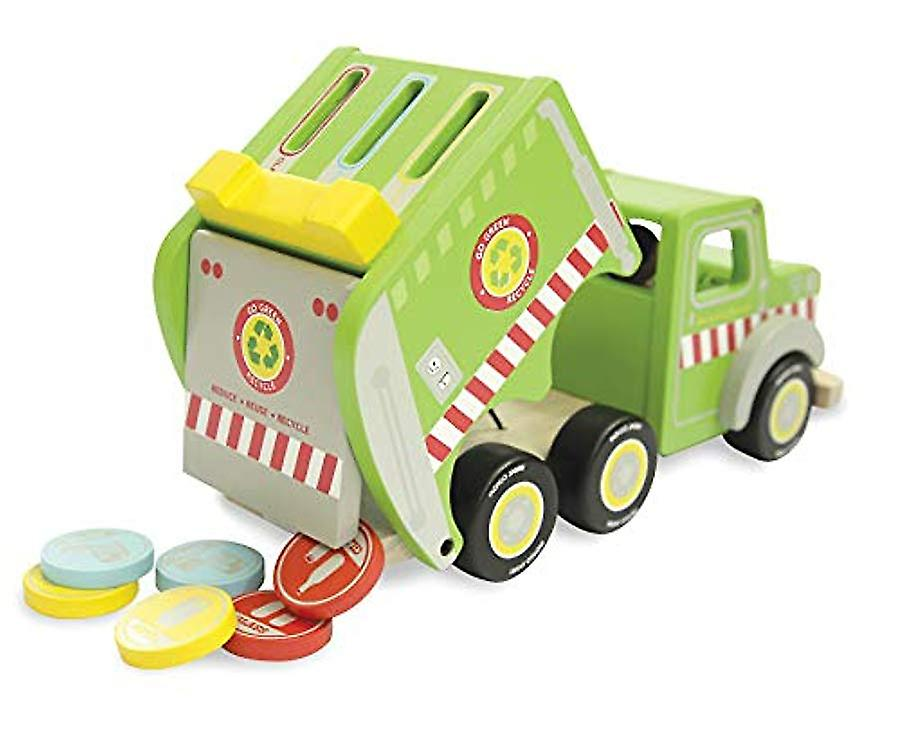Indigo Jamm Recycling Ronnie, Wooden Toy Playset with Removable Passengers and Tokens