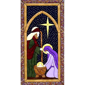 Quilt-Magic No Sew Wall Hanging Kit-Holy Family
