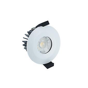Integral - LED Low Profile IP65 Fire Rated Downlight Spotlight 6W 4000K 440lm Dimmable Matt White IP65 - ILDLFR70B003
