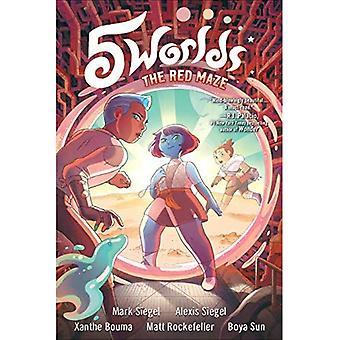 5 Welten Buch 3: Das Rote Maze (5 Welten)