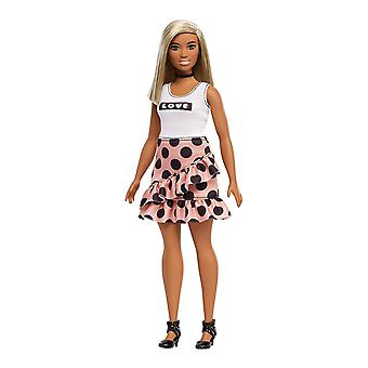 Barbie FXL51 Fashionistas Doll, Polka Dot Curvy, White Hair