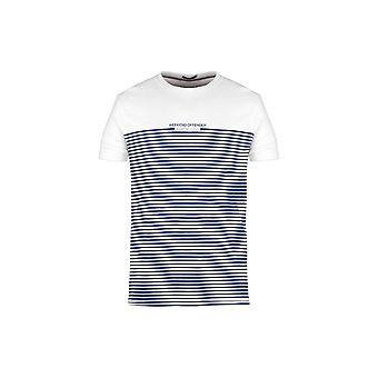 Weekend Offender Half Stripes White T-shirt