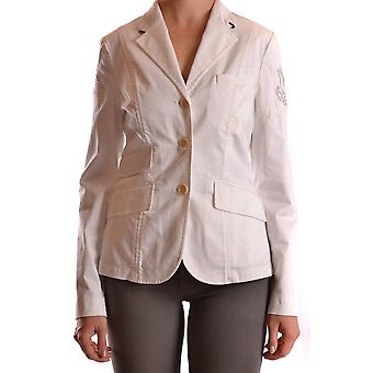 La Martina Ezbc259007 Women's White Cotton Blazer