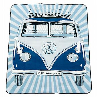 Official VW Camper Van Picnic Blanket  / Travel Rug with carrying bag - Blue
