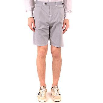 Neil Barrett Ezbc058076 Men's Grey Cotton Shorts