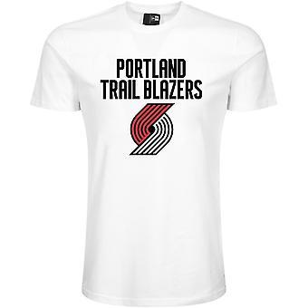 New Era Basic Shirt-NBA Portland Trail Blazers White
