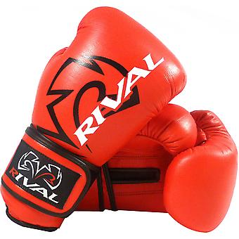 Rival Boxing RS4 Classic Hook and Loop Sparring Gloves - Red