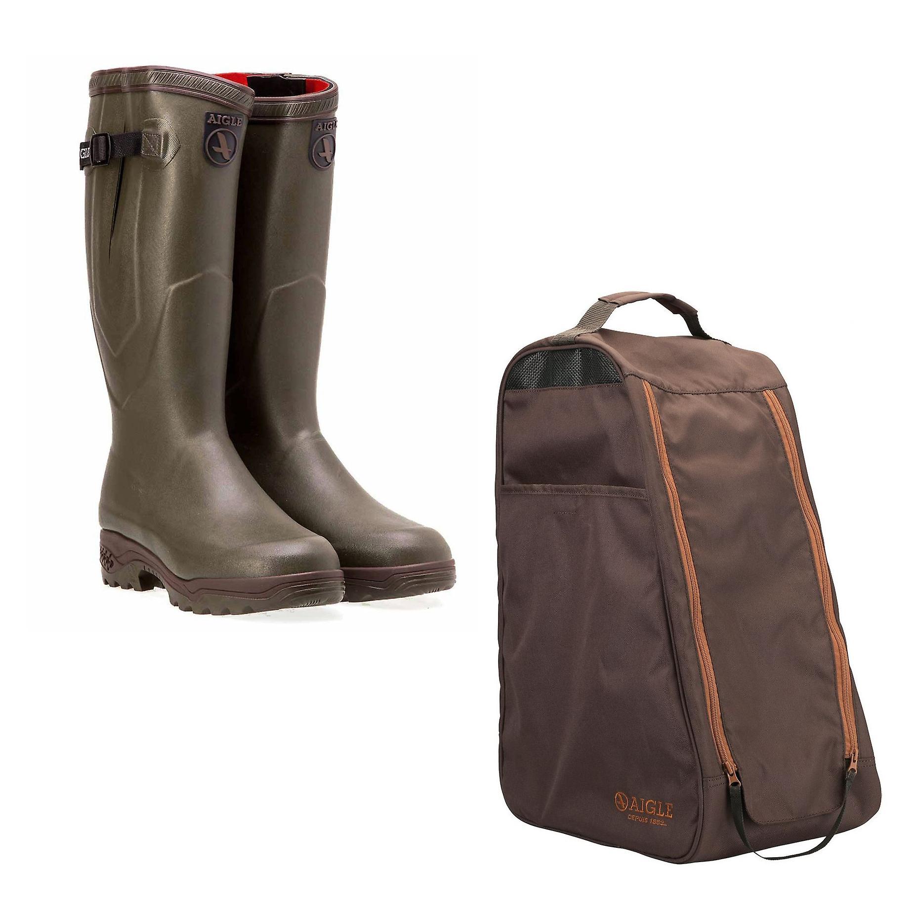 Aigle Parcours 2 ISO معزول ولينغتون الأحذية مع حقيبة التمهيد Aigle