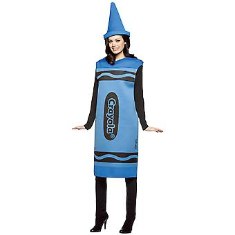 Womens Crayola Crayon Blue Dress Hen Party Group Fancy Dress Costume