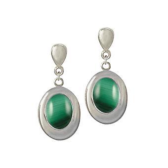 الأبدية جمع ايداهو الأخضر Malachite الفضة لهجة قطرة مقطع على الأقراط