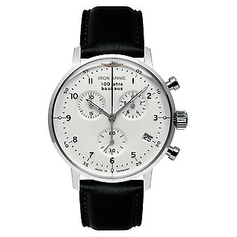 Iron Annie Bauhaus | Chrono | White Dial | Black Leather 5096-1 Watch
