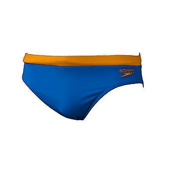 Speedo 7cm Essential logo mens svømming trunk kort blå/gul