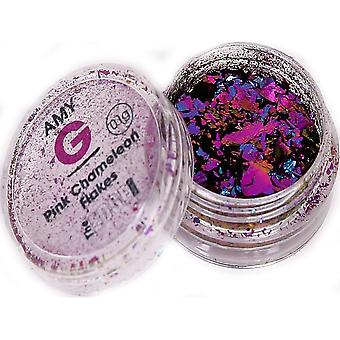 The Edge Nails Amy G - Chameleon Nail Art Flakes - Pink 0.1g (3003020)