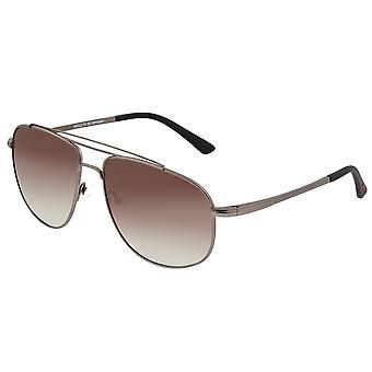 Óculos de sol polarizado Titanium da raça-gunmetal/azul