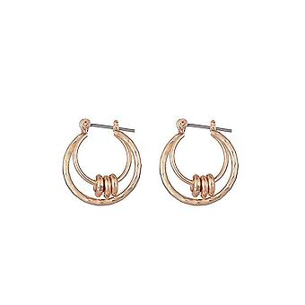 Jewelcity Sunkissed Womens/Ladies Hoops And Discs Boucles d'oreilles