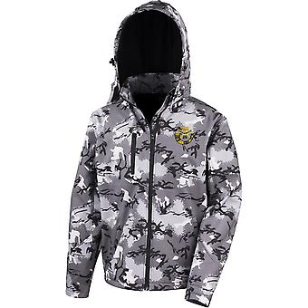 Duke Of Cornwall Light Infantry - Con licencia British Army Embroidered Performance Hooded Camo Softshell Jacket
