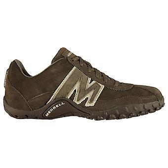 Merrell Mens Sprint Blast couro formadores impermeáveis andando sapatos lace up