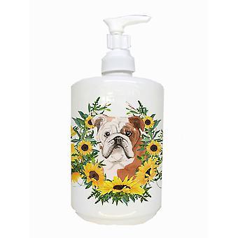 Carolines Treasures  CK2941SOAP English Bulldog Ceramic Soap Dispenser