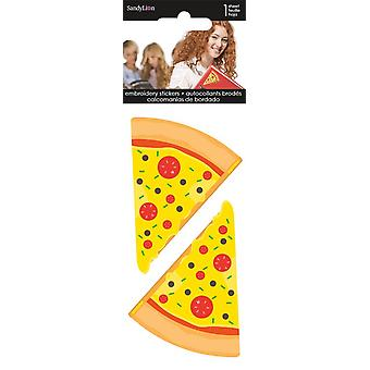 Embroidered Stickers - Pizza - Stationery New st3018