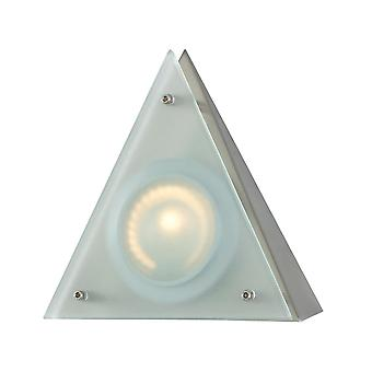 Zee-puk wedge w/lamp. frosted lens / stainless steel finish/triangle shade elk lighting