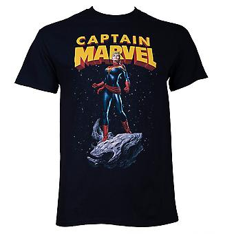 Capitán Marvel Asteroide Ride Hombres's camiseta negra