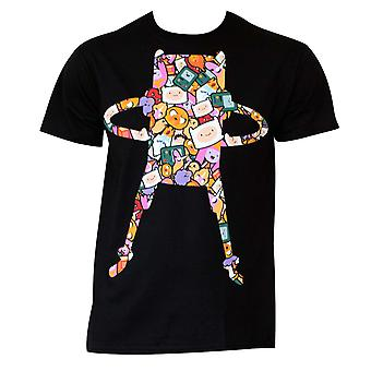 Men's Cotton Adventure Time Super Pop Finn Pattern T-Shirt