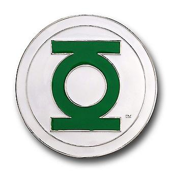 Green Lantern White and Green Belt Buckle