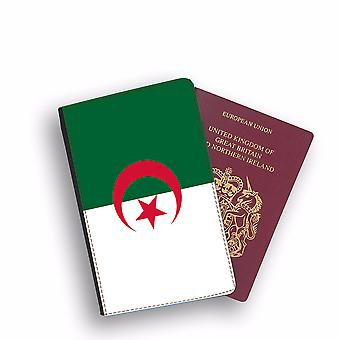 ALGERIA Flag Passport Holder Style Case Cover Protective Wallet Flags design