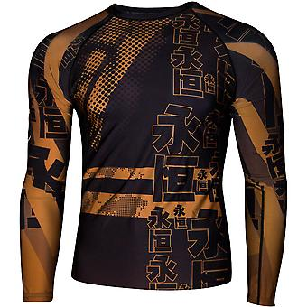 Dokebi Eternal Long Sleeve BJJ Rashguard - Brown