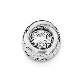 925 Sterling Silver Polished Dancing CZ Cubic Zirconia Simulated Diamond Circle Pendant Necklace Jewelry Gifts for Women