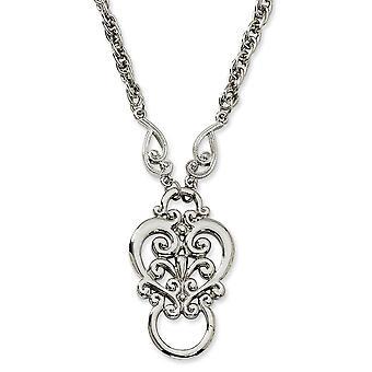 Silber Ton Fancy Hummer Verschluss Fancy Scroll Eyeglass Halter Halskette Schmuck Geschenke für Frauen