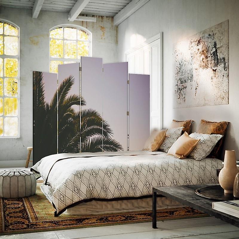 Diviseur de salle décorative, 5 panneaux, toile, Palma 5
