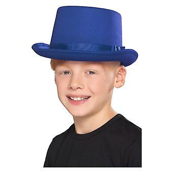 Pour enfants garçons filles bleu chapeau haut de forme déguisements accessoires