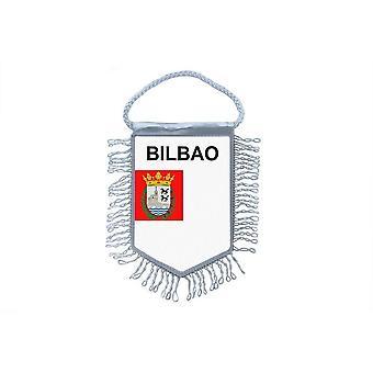 Fanion Mini Drapeau Pays Voiture Decoration Souvenir Blason Espagne Bilbao