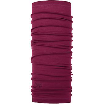Buff Lightweight Wool Buff Neck Warmer in Purple Raspberry
