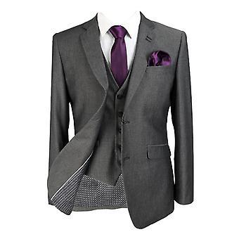 Designer Mens & Boys Matching Slim Fit Charcoal Grey Business Suit