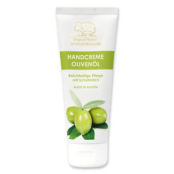 Florex Hand Cream Olive Oil - Extensive intensive care for dry stressed hands with sheep's milk without palm oil 75 ml
