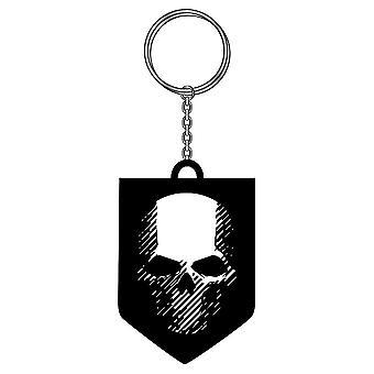 Sleutelhanger-Ghost Recon-avonturier schedel logo rubber PVC j10432