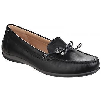 Geox Yuki damer läder loafers svart