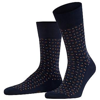 Falke Sensitive Jabot Socken - Dunkle Marine/Braun