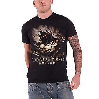 Disturbed Mens T Shirt Black Asylum band logo Official