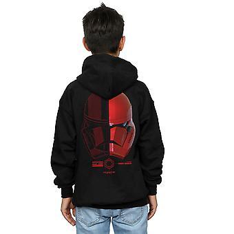 Star Wars Boys The Rise Of Skywalker Sith Trooper Helmet Icon Zip Up Hoodie