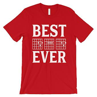 Best Dad Ever Guitar Chord Mens Red Special Proud Cool Shirt Gift