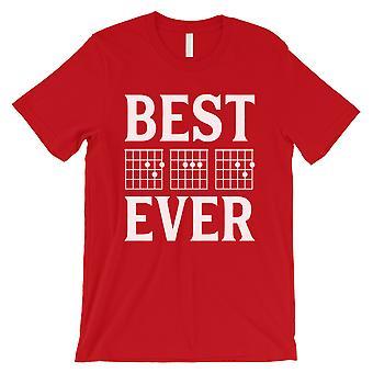 Beste pappa Ever Guitar Chord menns rød spesiell stolt kul skjorte gave