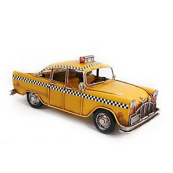 New York City Taxi Yellow Cab Tin Levy käsinmaalattu Ornamentti lahja