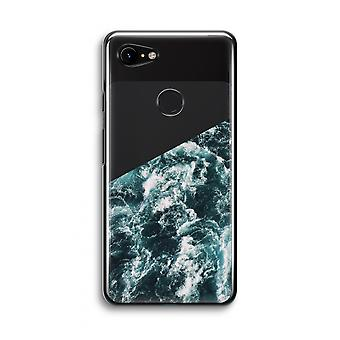 Google Pixel 3 Transparent Case (Soft) - Ocean Wave