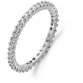 Ring Blush 11239WZI - White gold ring and zirconium-set oxides full-turn claw 2mm Women