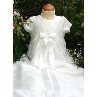 スウェーデンの洗礼ドレスグレース - グレース·フィオナIホワイトレース