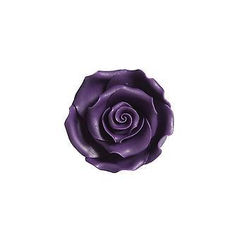 SugarSoft Flor Comestível - Rosas - Roxo 50milímetros - Caixa de 10