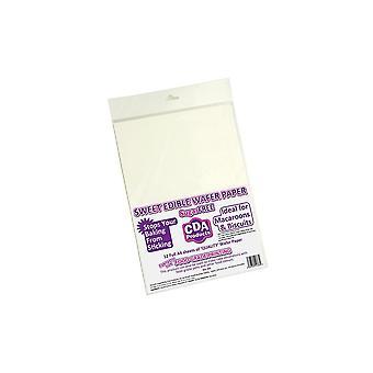 Culpitt Edible Wafer Paper - Pack Of 12 - White